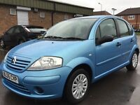 2005 Citroen C3 1.4 i Desire 5dr 53000 miles FSH Blue Manual LPG Super Economical Car
