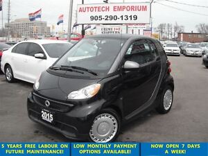 2015 smart fortwo pure, Navigation, Htd sts, bluetooth, low km