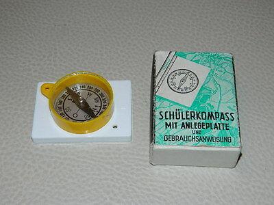 Schülerkompass mit Anlageplatte selten DDR