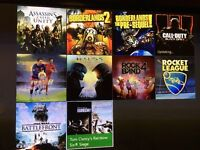 Xbox one 500GB with Kinect and games, NO CONTROLLER
