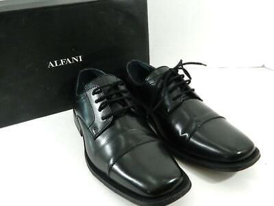 Alfani Men's Black Adam Cap Toe Oxford Shoes Size 7.5 M MSRP $59 B2