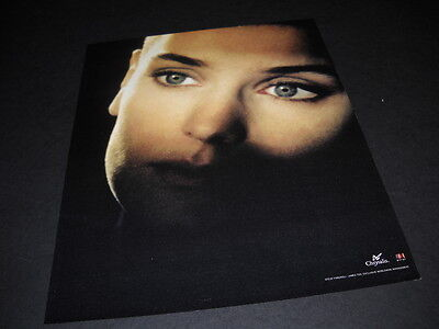 SINEAD O'CONNOR dynamic focused on eyes PROMO POSTER from 1990