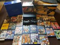 Ps2 PlayStation 2 with box lots of games