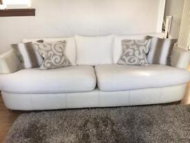 Cream Fabric/leather Sofas from DFS