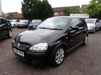 Vauxhall Corsa 1.2 i 16v SXi+ 3dr 2006 (06 reg), Hatchback, BLACK, ONLY 64,000 MILES, HALF LEATHER
