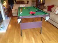 Snooker Table 1/2 size (folds flat) and all you need to go with it.