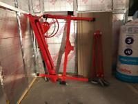 11 Ft Caster Drywall Lift Plaster Board Panel Hoist Jack Rolling Lifter Tool Red