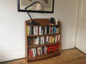 Vintage Solid Oak Art Deco Bookshelves Bookcase