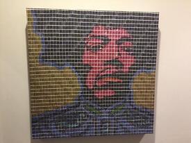 Collage Jimi Hendrix print