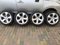 PEUGEOT 3008 ALLOY WHEELS AND JINYU WINTER TYRES