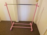 Pink baby/childrens clothing rack