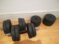 Dumbells 16-piece Set + Mat - Gym Equipment