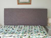 Kingsize headboard dark grey