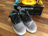 Heelys Childrens Size 12 In Grey and Black