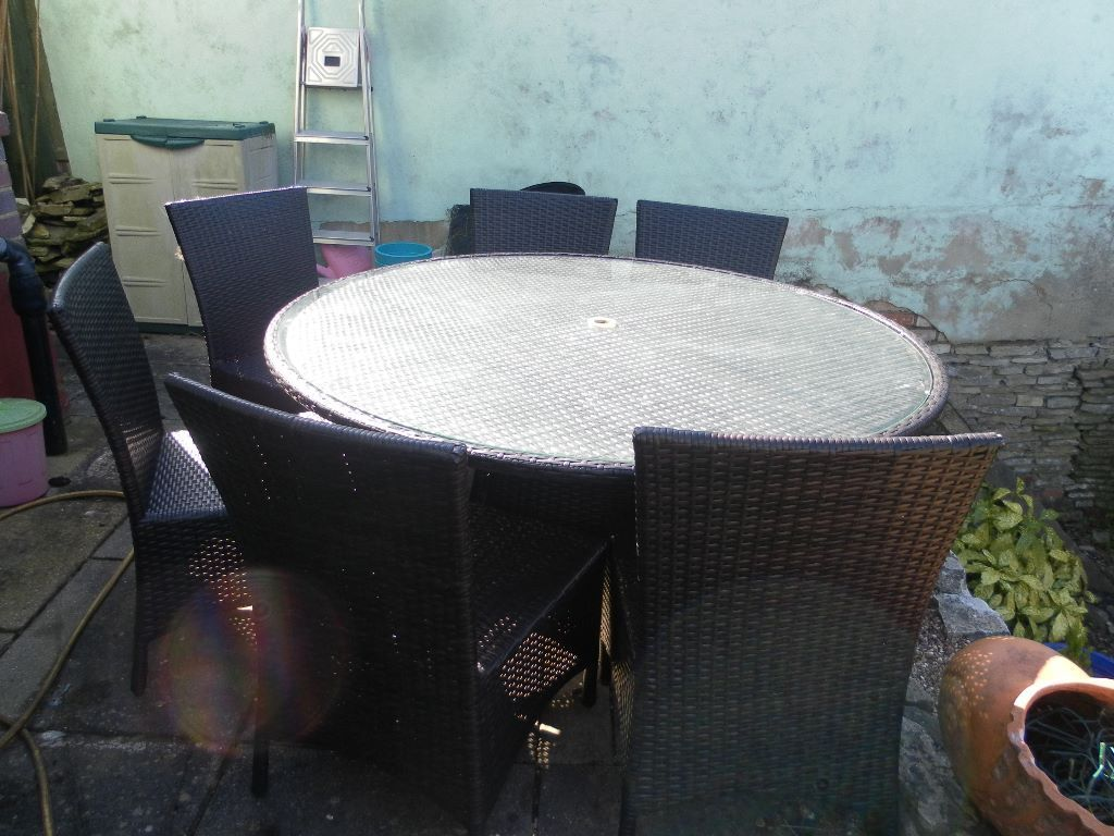 6 Seater Outdoor Dining Table And Chairs Set Or