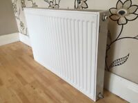 WHITE DOUBLE RADIATOR IN VERY GOOD CONDITION