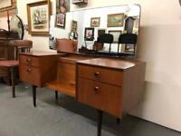 Stunning mid century teak G Plan retro dressing table in pristine condition