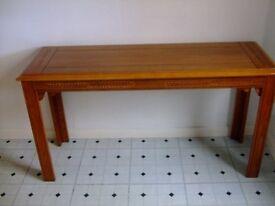 console table oak finish