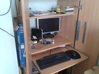 computer cupboard/desk