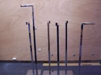 Shiny Metal Shop Display Fitting with Adjustable Height