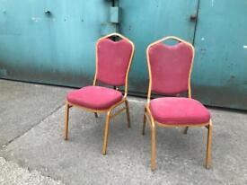 Stackable Pink & Gold Banquet Chairs