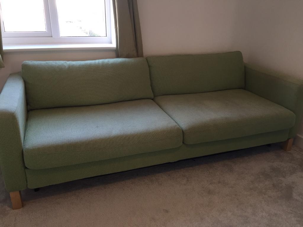 3 Seater Sofa Bed Ikea Karlstad 3 Seater Sofa Bed In Swindon Wiltshire Gumtree