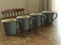 Denby Coffee Mugs | Blue | x4 Set