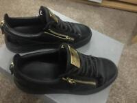 Guiseppe Zanotti Black Leather Sneakers
