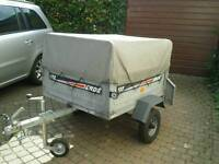 Erde 122 trailer with high top cover