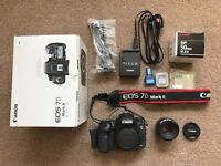 Canon 7D Mark II Shutter count + FREE Canon EF 50mm f/1.8 STM Lens + FREE Canon Case