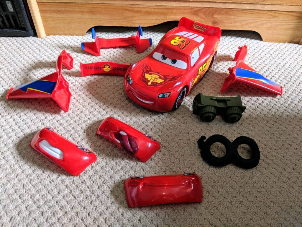 Lightning Mcqueen Car With Interchangeable Parts