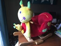 Lovely Rocking Snail (used twice but in excellent condition like new)
