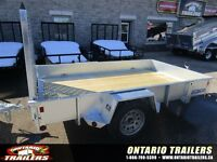 2015 Sure-Trac 6 X 10 FT Galvanized High Side Utility