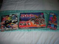 3 Board games,all complete,RUBIKS RACE , RISK, JENGA TETRIS