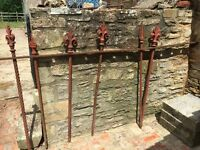 Antique metal fence railings for sale. Spear head and plain. Assorted styles. Sold separately
