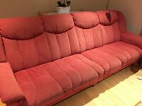 Red soft fabric sofas