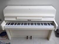 Reislan upright piano - cream in colour