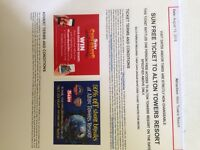 2 X Alton Towers tickets - 13th August