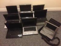 9 laptops parts or repairs