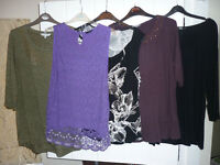 M&S/ Woman. red herring mixed bundle of 5 tops - size 18