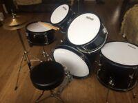 Mirage junior 5 piece drum kit. Excellent condition and great starter kit.