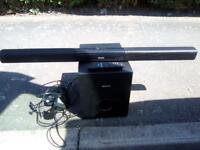 Phillips sound bar and base box