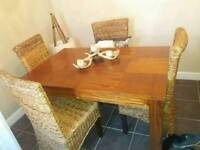 Indian wood dark 8 sitter dining table