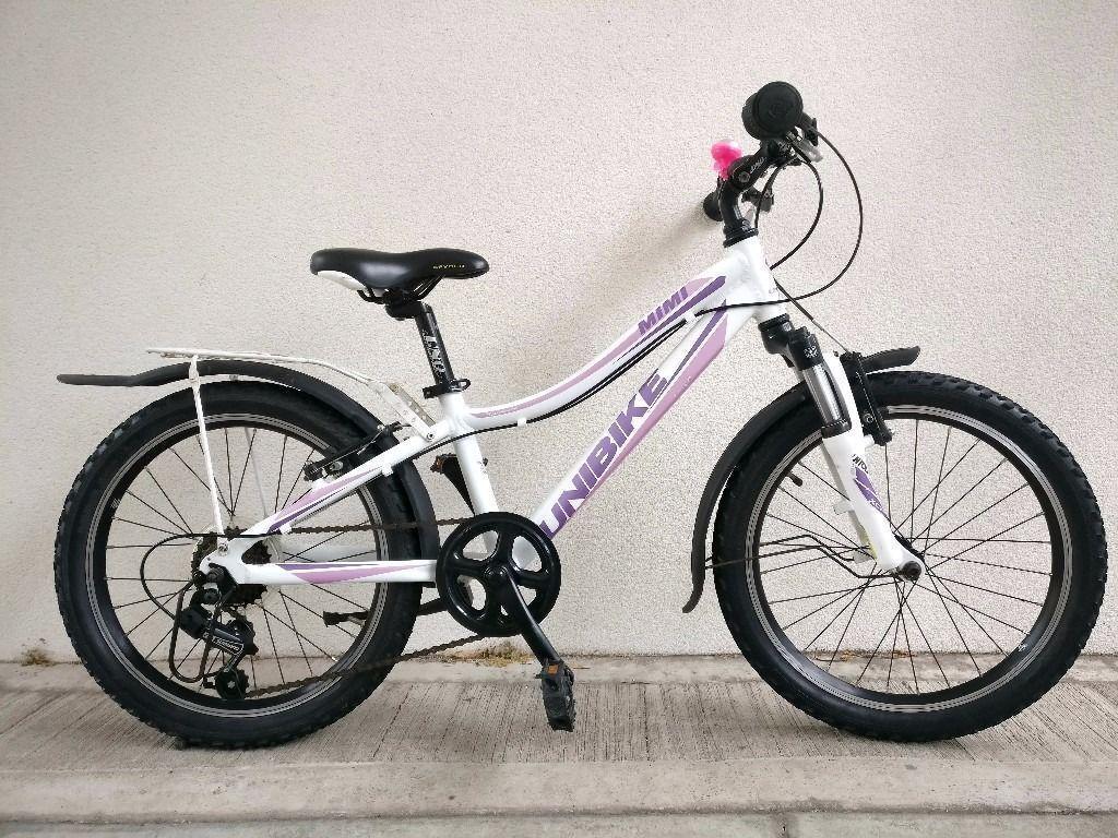 "FREE Lights with (2645) 20"" Lightweight Aluminium UNIBIKE GIRLS BIKE BICYCLE Age: 6-8, 117-132 cm"