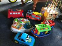 A collection of toys for baby/toddler vtech etc