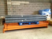 5 bay run of dexion pallet racking ( storage , industrial shelving )