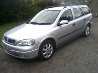 VAUXHALL ASTRA 1-7 DTI CLUB TURBO DIESEL 5-DOOR ESTATE 2003. 137k MILES WITH FULL SERVICE HISTORY.