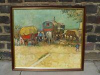 FREE DELIVERY Gypsy Camp Framed Print Vincent Van Gogh