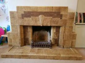 1930 Art Deco Retro Fireplace