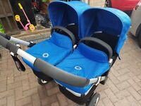Bugaboo Donkey Twin pram / pushchair: 2 carrycots and 2 regular seats